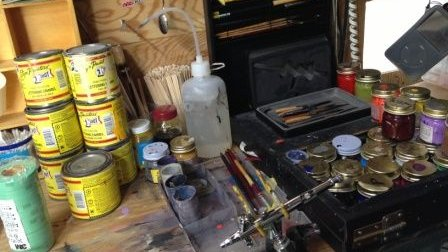 塗装用の道具