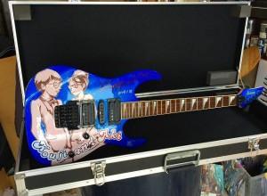 ウエルカムボード ギターペイント