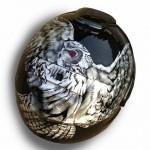 ヘルメットペイント フクロウ