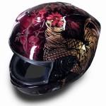 ヘルメットペイント 和柄