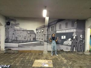 壁画 看板